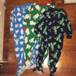 Bundle of footie pajamas